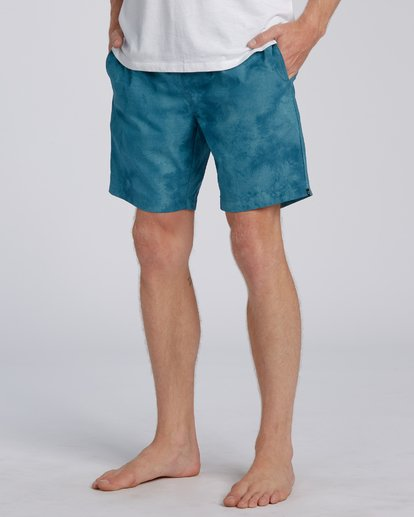 7 Surftrek Perf Elastic Walkshorts Blue M2461BSP Billabong