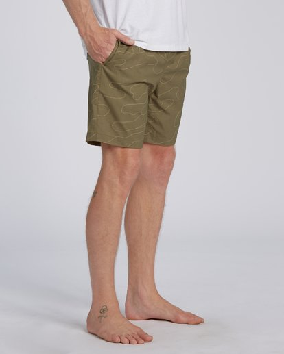 6 Surftrek Perf Elastic Walkshorts Green M2461BSP Billabong