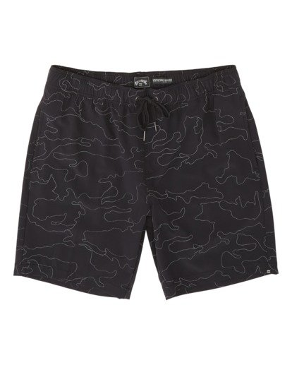 3 Surftrek Reflex Elastic Performance Walkshorts Black M2481BSR Billabong
