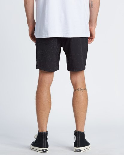2 Surftrek Reflex Elastic Performance Walkshorts Black M2481BSR Billabong