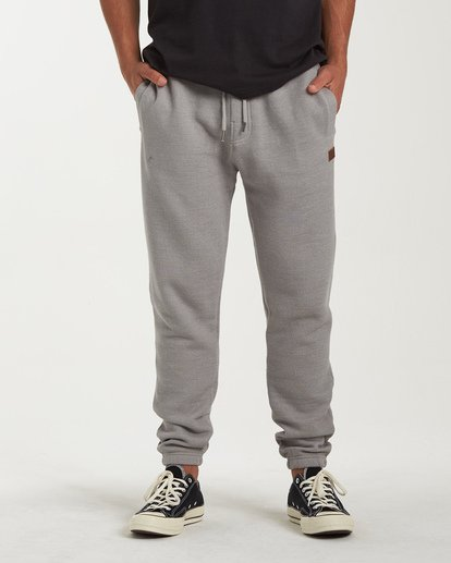 2 Balance Pant Cuffed Sweatpants Grey M300VBBP Billabong