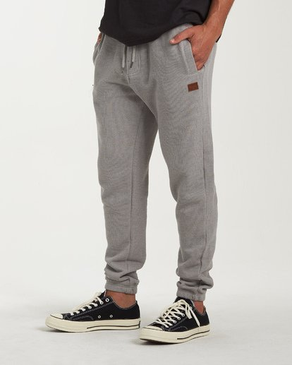 3 Balance Pant Cuffed Sweatpants Grey M300VBBP Billabong