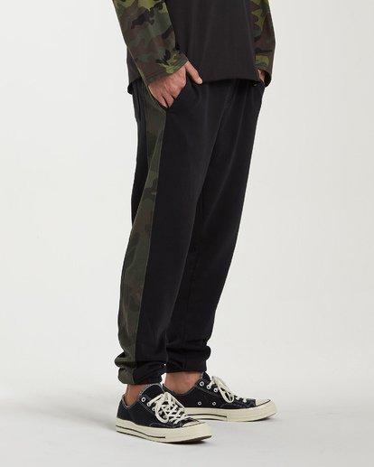 2 Wave Washed Pant Sweatpants Black M300VBWP Billabong