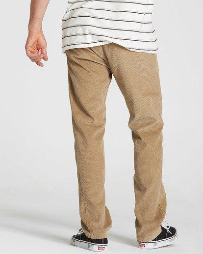 2 Larry Layback Cord Pant Grey M312QBLC Billabong