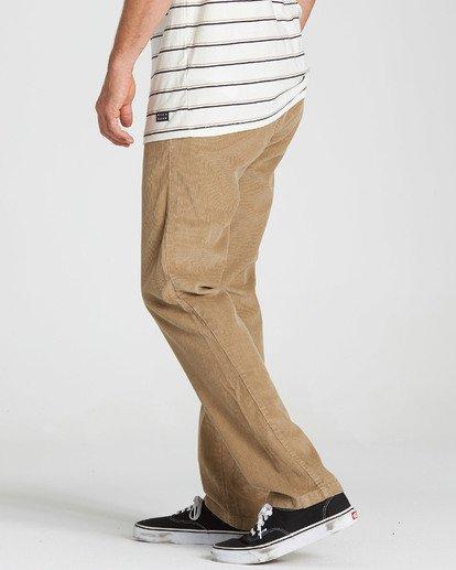 1 Larry Layback Cord Pant Grey M312QBLC Billabong