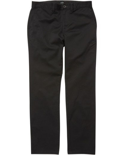4 Carter Stretch Chino Pant Black M3143BCS Billabong