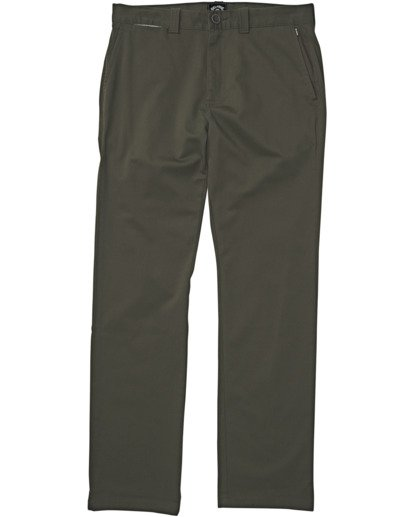 4 Carter Stretch Chino Pant Green M3143BCS Billabong