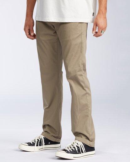 1 Carter Stretch Chino Pant Grey M3143BCS Billabong