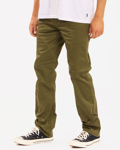 1 Carter Stretch Chino Pant Green M3143BCS Billabong