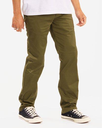 2 Carter Stretch Chino Pant Green M3143BCS Billabong