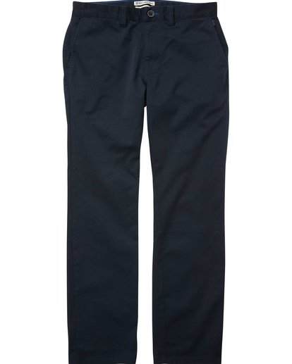 0 Carter Stretch Chino Pants Blue M314QBCS Billabong