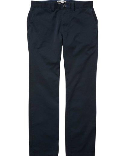 4 Carter Stretch Chino Pants Blue M314QBCS Billabong