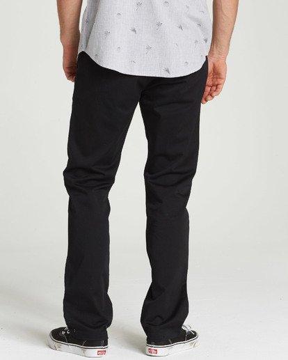 3 Carter Stretch Chino Pants Black M314QBCS Billabong