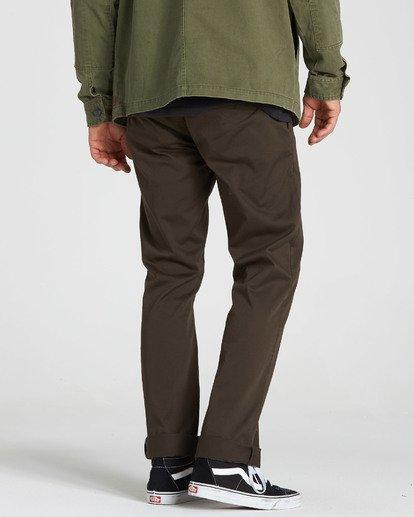 2 Carter Stretch Chino Pants Brown M314QBCS Billabong