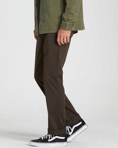 1 Carter Stretch Chino Pants Brown M314QBCS Billabong