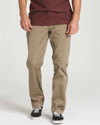 0 Carter Stretch Chino Pants Green M314QBCS Billabong
