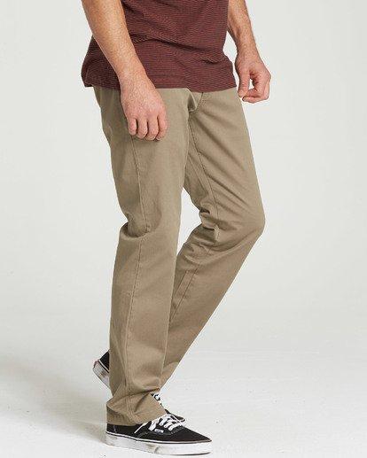 2 Carter Stretch Chino Pants Green M314QBCS Billabong