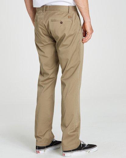 0 Carter Stretch Chino Pants Grey M314QBCS Billabong