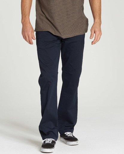 0 Carter Stretch Chino Pants Blue M314QBCS Billabong