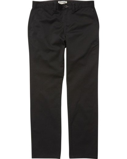 3 Carter Stretch Chino Pants Black M314VBCS Billabong