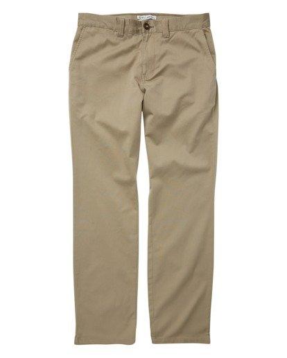 3 Carter Stretch Chino Pants Grey M314VBCS Billabong
