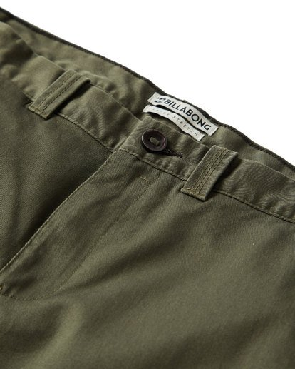 2 Carter Stretch Chino Pants Green M314VBCS Billabong