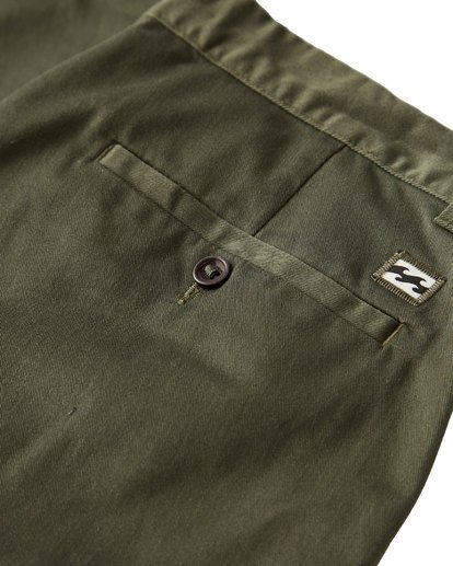 3 Carter Stretch Chino Pants Green M314VBCS Billabong