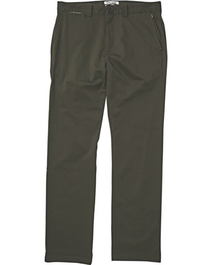 0 Carter Stretch Chino Pants Green M314VBCS Billabong