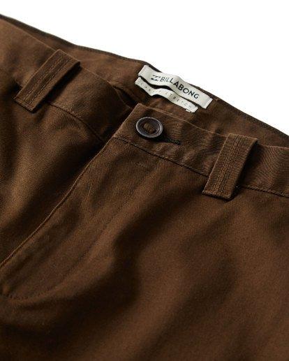 2 Carter Stretch Chino Pants Brown M314VBCS Billabong