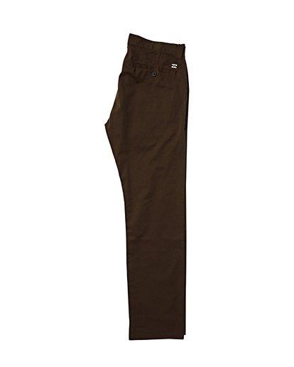 1 Carter Stretch Chino Pants Brown M314VBCS Billabong