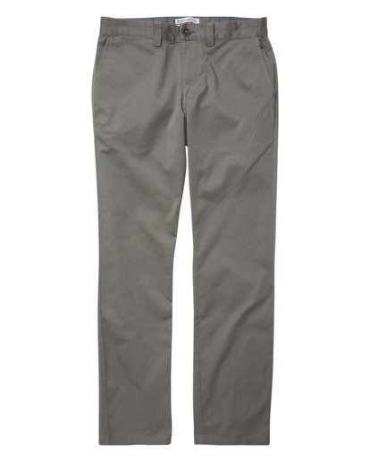 3 Carter Stretch Chino Pants Grey M314VBCS Billabong