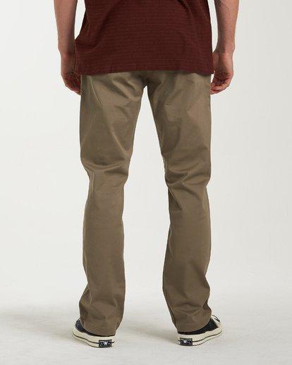 2 Carter Stretch Chino Pants Grey M314VBCS Billabong