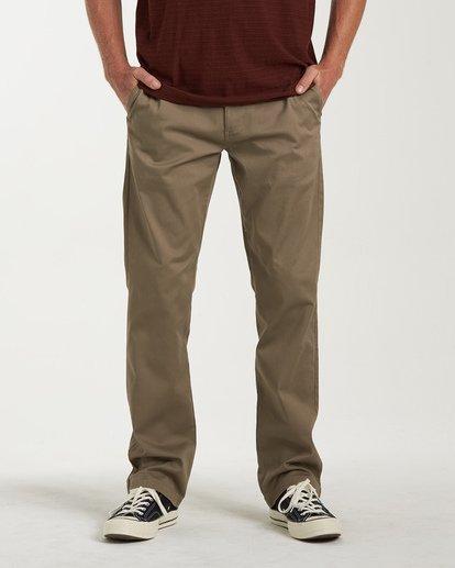 0 Carter Stretch Chino Pants Grey M314VBCS Billabong