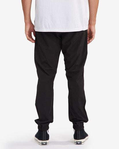 7 A/Div Transport Elastic Waist Pants Black M3153BTP Billabong