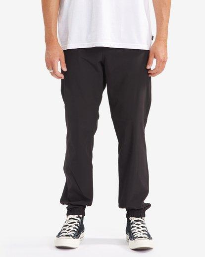 4 A/Div Transport Elastic Waist Pants Black M3153BTP Billabong