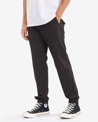 5 A/Div Transport Elastic Waist Pants Black M3153BTP Billabong