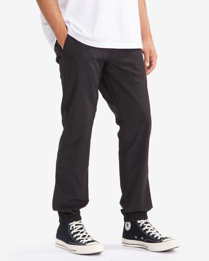 6 A/Div Transport Elastic Waist Pants Black M3153BTP Billabong
