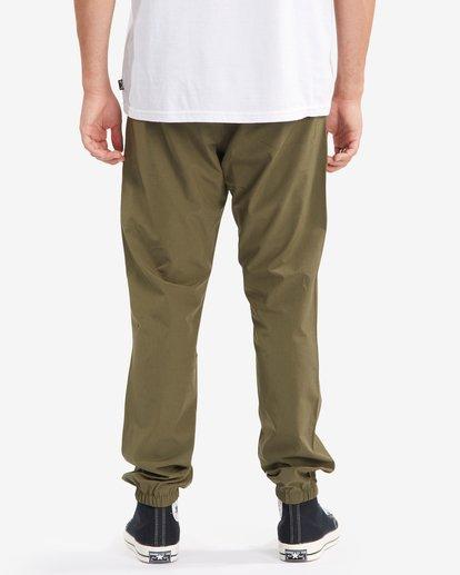 3 A/Div Transport Elastic Waist Pants Green M3153BTP Billabong