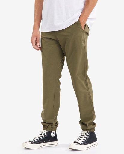 1 A/Div Transport Elastic Waist Pants Green M3153BTP Billabong