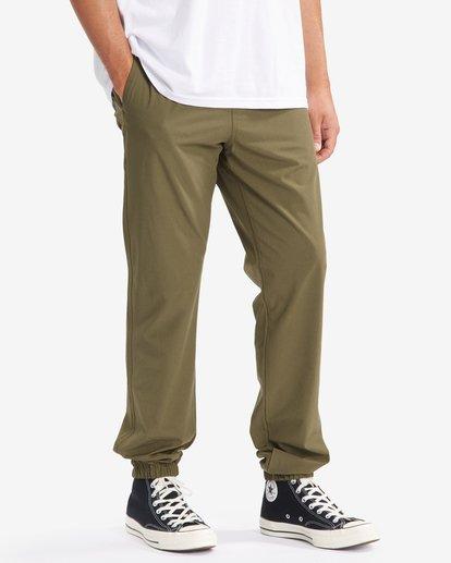2 A/Div Transport Elastic Waist Pants Green M3153BTP Billabong