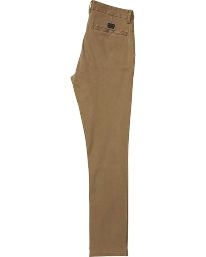 4 New Order Chino Pant Brown M315QBNO Billabong