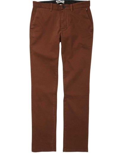 3 New Order Chino Pant Brown M315QBNO Billabong