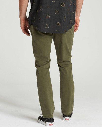 3 New Order Chino Pant Green M315QBNO Billabong