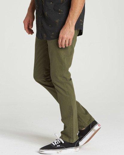 1 New Order Chino Pant Green M315QBNO Billabong