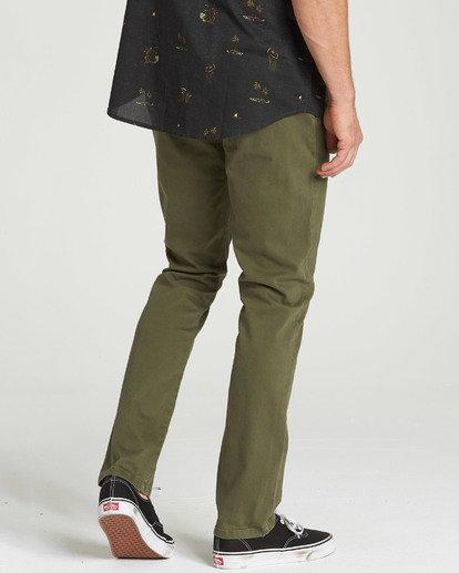 2 New Order Chino Pant Green M315QBNO Billabong