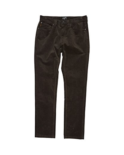 3 Outsider Corduroy Pant Black M316WBOU Billabong