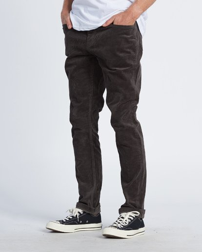 1 Outsider Corduroy Pant Black M316WBOU Billabong