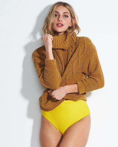 1 On A Roll Chenille Sweater Jaune M3JP02BIW8 Billabong
