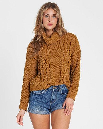 2 On A Roll Chenille Sweater Jaune M3JP02BIW8 Billabong
