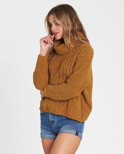4 On A Roll Chenille Sweater Jaune M3JP02BIW8 Billabong